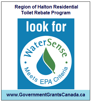 Region of Halton Residential Toilet Rebate Program